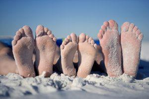 pieds vacances
